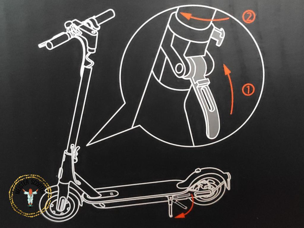 Xiaomi E-Scooter - Klappmechanismus