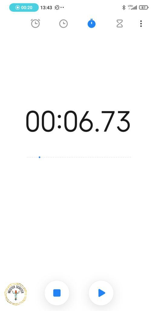 Xiaomi E-Scooter im  Beschleunigungstest von 0 auf 19 kmh