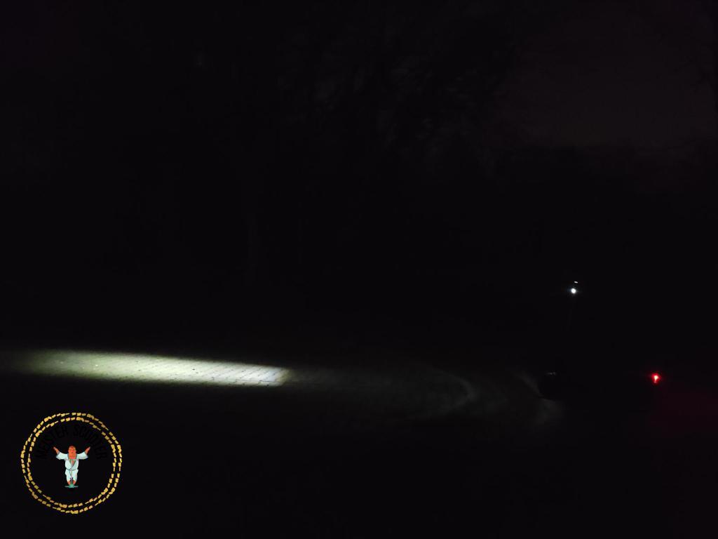 Lichtkegel Seitenansicht