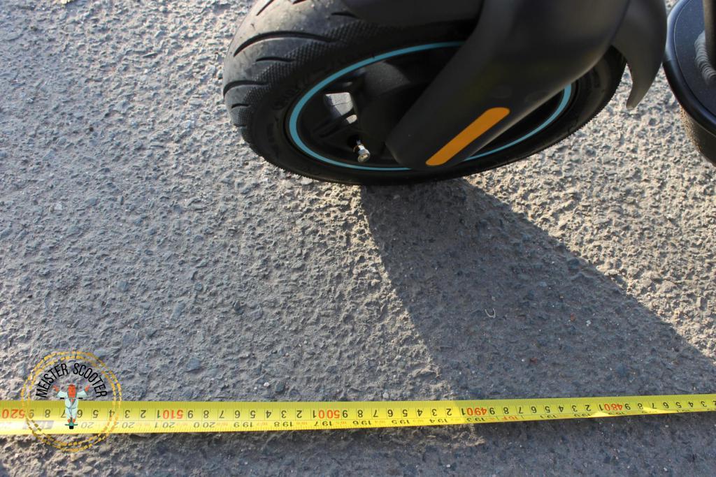 Segway Ninebot MAX G30D Bremsweg messen